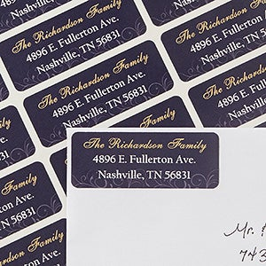 Personalized Address Labels - Silent Night - 13423