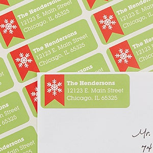 Personalized Address Labels - All About Christmas - 13426