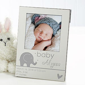 Personalized Silver Baby Picture Frame - Precious Child - 13429