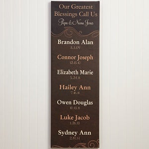 Personalized Grandparents Canvas Print - Greatest Blessings - 13430