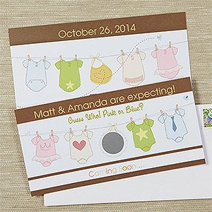 Personalized Baby Announcements - We Are Expecting Scratch-Off - 13436