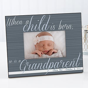 Personalized Grandparent Picture Frames - A Grandparent Is Born - 13437