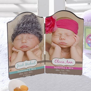 Personalized Baby Photo Plaques - Twins or Triplets - 13440