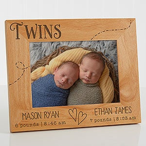 Personalized Picture Frames for Twins & Triplets - 13441