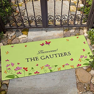 Personalized Doormats - Floral Welcome - 13448