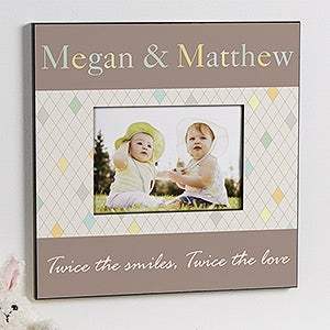 Personalized Picture Frames for Twins - Just For Them - 13449