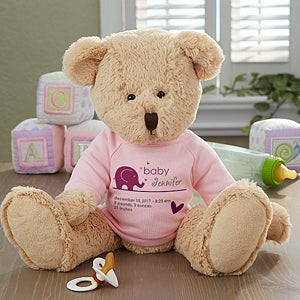 Personalized Plush Baby Teddy Bears - 13450