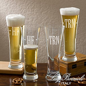 Personalized Pilsner Set With Engraved Monogram - Luigi Bormioli - 13456
