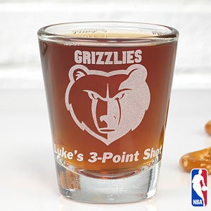 Personalized Basketball Shot Glasses - NBA Team Logos - 13479