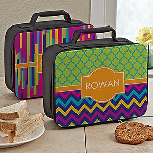 Personalized Girls Lunch Bag - Bright & Cheerful - 13492
