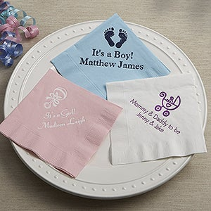 Personalized baby shower napkins personalized baby shower napkins 13506d negle Images