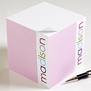 Personalized Kids Notepad Cube - My Name - 13516