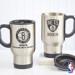 Personalized NBA Basketball Travel Mugs - 13531