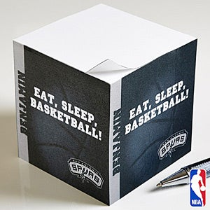 Personalized NBA Basketball Note Pad Cube - 13533