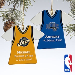 Personalized NBA Basketball Jersey Christmas Ornaments - 13534