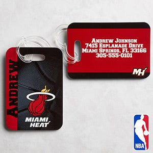 Personalized NBA Basketball Luggage Tag Set - 13535