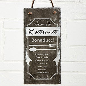 Personalized Kitchen Signs - Slate Chalkboard - 13537