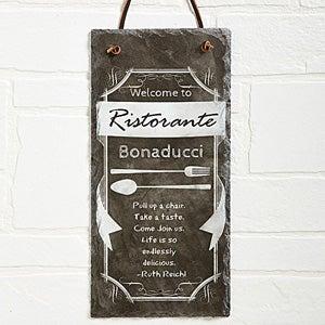 Personalized Kitchen Signs - Slate Chalkboard - 13537