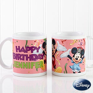 Personalized Mickey Mouse & Minnie Mouse Birthday Coffee Mugs - 13564