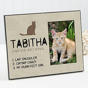 personalized cat picture frames definition of my cat 13596