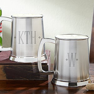 Personalized Beer Tankard - Engraved Monogram - 13600
