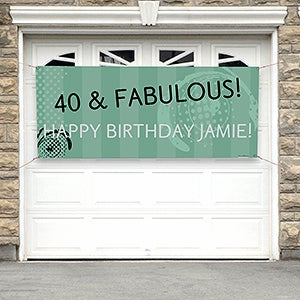 Personalized Party Banner - Party Time Swirls - 13601