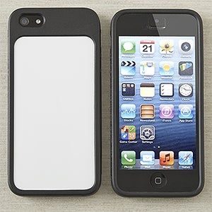 Black iPhone 5 Cell Phone Case - Personalized Inserts - 13616