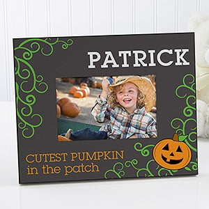 Personalized Halloween Pumpkin Picture Frame - Cutest Pumpkin - 13628