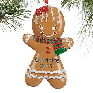 Personalized Christmas Ornaments - Gingerbread Girl - 13645