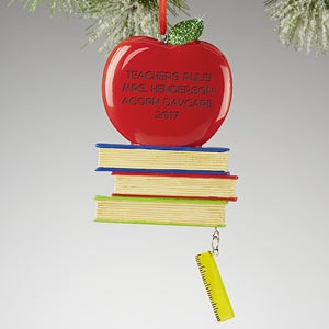 Personalized Teacher Christmas Ornaments - Teacher's Rule - 13646