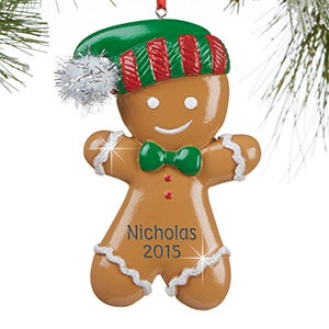 Personalized Christmas Ornaments - Gingerbread Boy - 13647