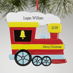 Personalized Train Christmas Ornaments - Choo Choo - 13650