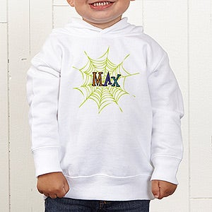 Personalized Boys Halloween Shirts - Spider Webs - 13656
