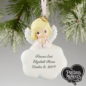 Personalized Angel Christmas Ornaments - Girl - Precious Moments ...