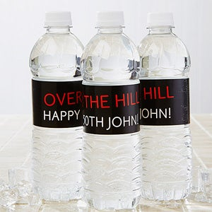 Personalized Water Bottle Labels - Party Time - Striped - 13665
