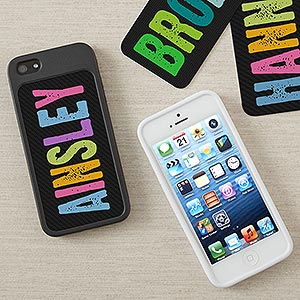 Personalized iPhone 5 Cell Phone Case Insert - Hands Off - 13682