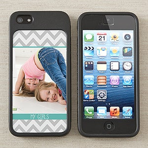 Personalized iPhone 5 Photo Cell Phone Case Insert - Picture Perfect Chevron - 13689