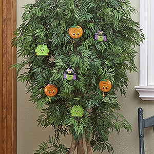 Personalized Halloween Party Ornaments - 13691