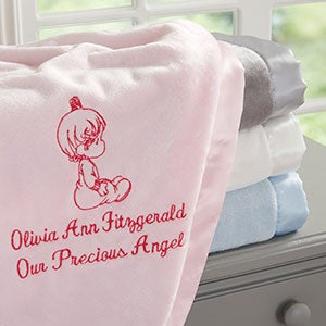 Personalized Baby Blankets for Girls - Precious Moments - 13692