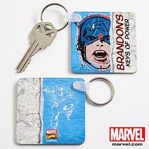 Personalized Marvel Superhero Key Rings - Wolverine, Spiderman, Iron Man, Thor - 13699