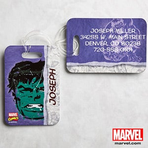 Personalized Marvel Superhero Luggage Tags - Wolverine, Spiderman, Iron Man - 13700