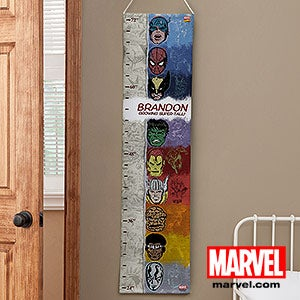 Personalized Growth Charts - Marvel Superheros - Spiderman, Wolverine, Iron Man - 13705