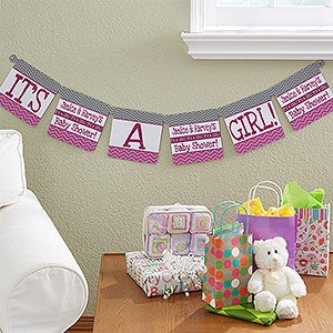 Personalized Baby Shower Banners   Chevron   13715