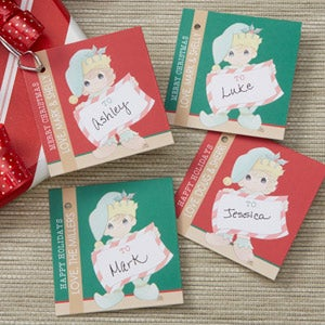 Personalized Christmas Gift Tags - Precious Moments Elf - 13750