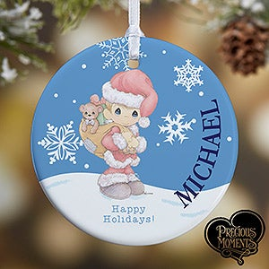 Personalized Christmas Ornaments - Precious Moments Santa - 13755