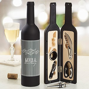 Personalized Wine Accessory Kits - Hampton Wine Bottle - 13756