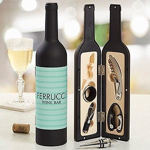 Personalized Wine Accessories - Corkscrew, Pourer, Collar, Stopper, Foil Cutter - 13757