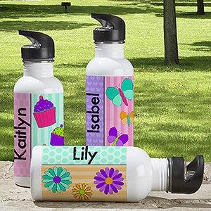 Personalized Water Bottle for Girls - Just For Her - 13765