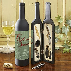 Personalized Wine Accessory Kits - Christmas Tree - 13780