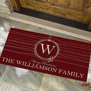 Personalized Holiday Doormats - Wreath - 13782